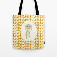 rabbit Tote Bags featuring Rabbit by Jane Mathieu