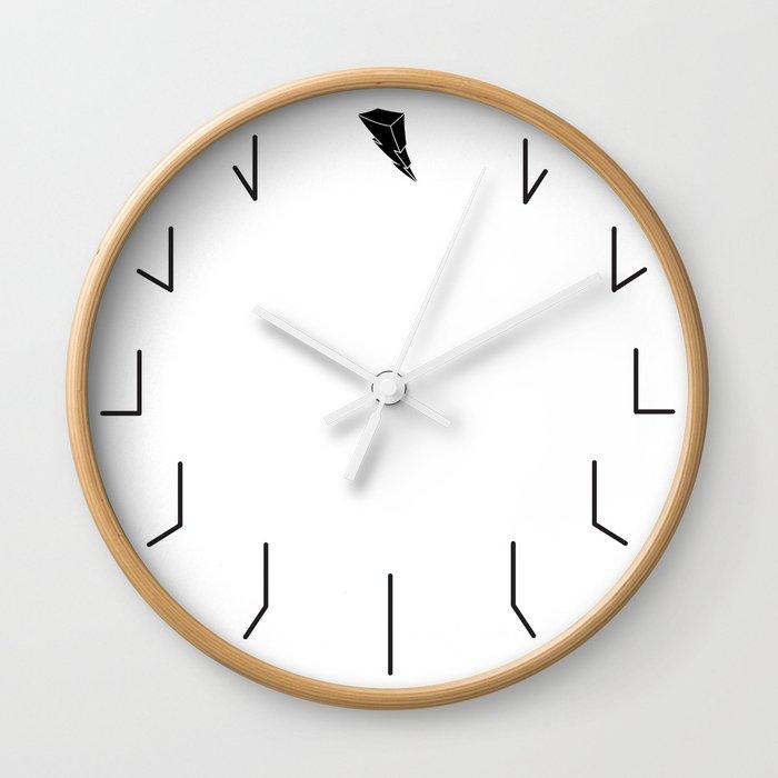 Redundant Clock w/ ShockBlast Flash Symbol Logo Wall Clock