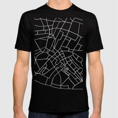 London Road Blocks Black MEDIUM Black Mens Fitted Tee