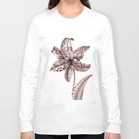 henna Long Sleeve T-shirts featuring Henna Lily by Elisa Camera
