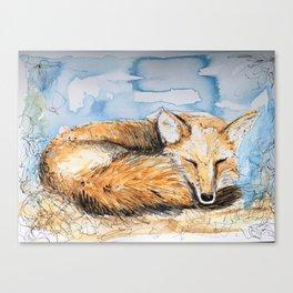 Snoozy Foxy Canvas Print