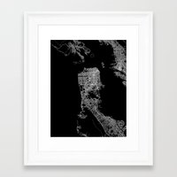 san francisco map Framed Art Prints featuring san francisco map by Line Line Lines