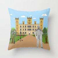 knight Throw Pillows featuring Knight by Design4u Studio