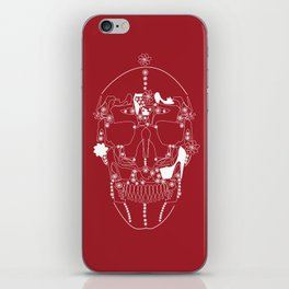 shoes make a skull iPhone Skin