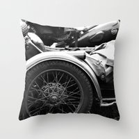 motorcycle Throw Pillows featuring motorcycle by Falko Follert Art-FF77