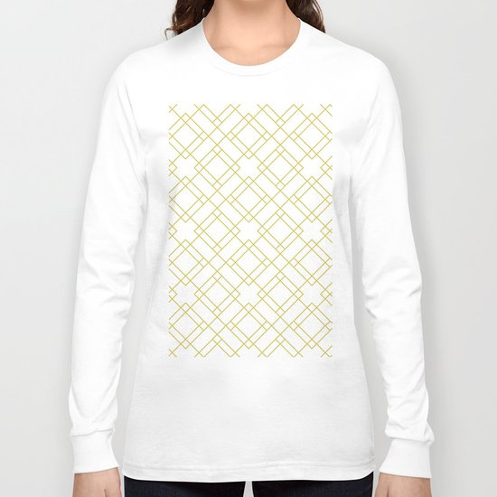 Simply Mod Diamond in Mod Yellow Long Sleeve T-shirt