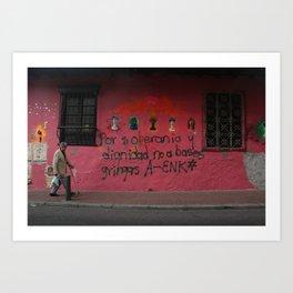 Pink Wall (Bogotá) Art Print