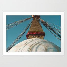 Boudhanath Stupa in Kathmandu // Nepal Art Print