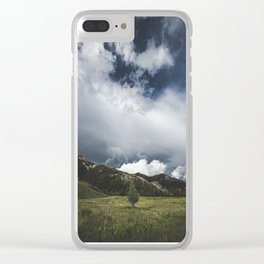 Landsape Waterton Meadow and Rolling Hills | Nature | Skyscape Clouds Clear iPhone Case