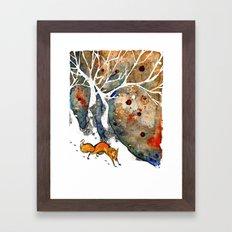 The Winter Fox Framed Art Print