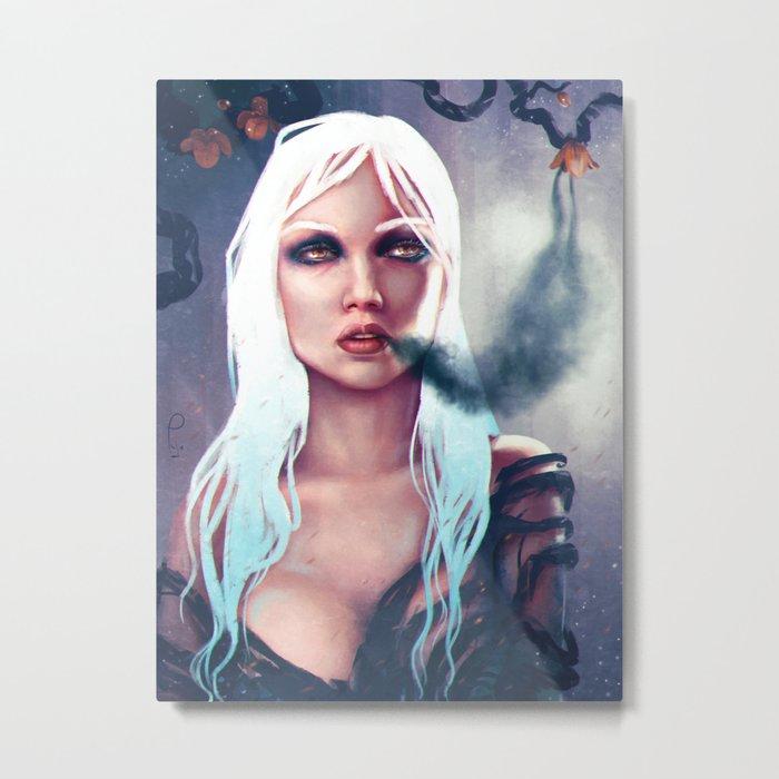 Flowers of the night fantasy digital painting Metal Print