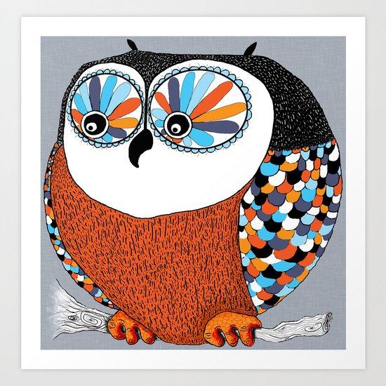 Beautiful Owl Art Print