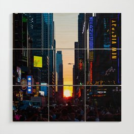 Manhattanhenge - New York Wood Wall Art