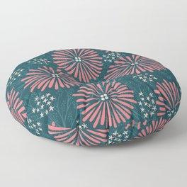 Spider Mum Flower Pattern Floor Pillow