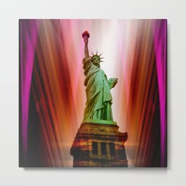 New York NYC - Statue of Liberty Metal Print