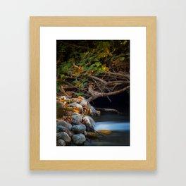 Rushing Rising River Framed Art Print