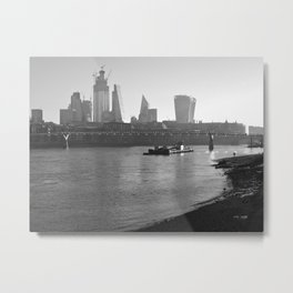 Low Tide on the Thames Metal Print