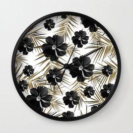 Tropical Diamond Flowers #1 #chic #floral #palms #decor #art #society6 Wall Clock
