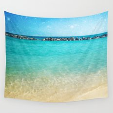 Blue Curacao Wall Tapestry