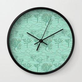 Joshua Tree Landscape in Sage Green Wall Clock