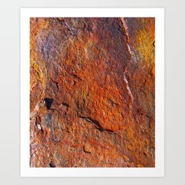 Fire Stone rustic decor Art Print