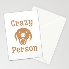 Crazy Dog Person [FOR WHITE] Stationery Cards