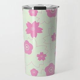 Sakura blossom - spring green Travel Mug