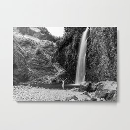 Naked Long Exposure Waterfall Metal Print