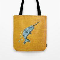 narwhal Tote Bags featuring Narwhal by Tamm + Kit