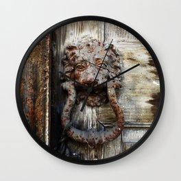Lion in Winter Wall Clock