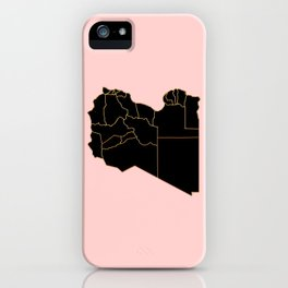 Libya map iPhone Case