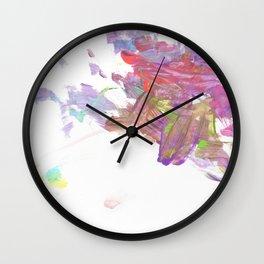 Purple Volcano Wall Clock