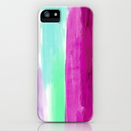 Abstract Paint Purple Pink iPhone Case