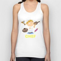 chef Tank Tops featuring Chef by Alapapaju