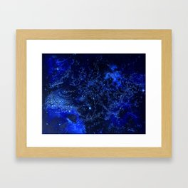 Celestial Blues Framed Art Print