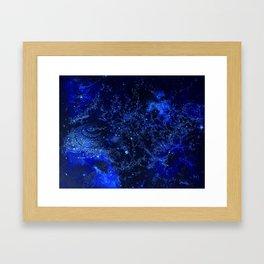 Celestial Blues Framed Art Print
