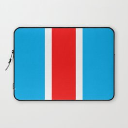 TEAM COLORS 10...RED , WHITE LIGHT BLUE Laptop Sleeve