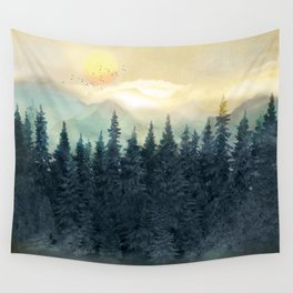 Forest Under the Sunset II Wall Tapestry