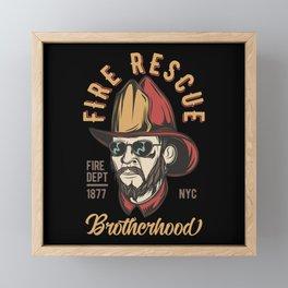 Firefighter 12 Framed Mini Art Print