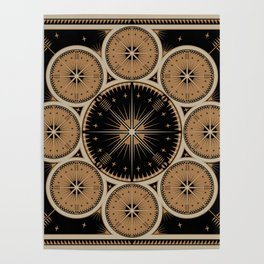 Tribal Gathering (Black) Poster