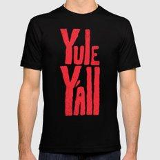 Yule Y'all Black MEDIUM Mens Fitted Tee