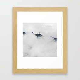Foggy Faith Framed Art Print