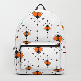 Orange And Black Arrow Boho Pattern Backpack