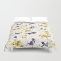 hunting Duvet Covers featuring Hunting Dogs by ascaliers