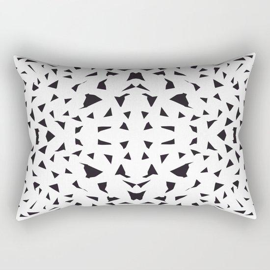 black fragments Rectangular Pillow