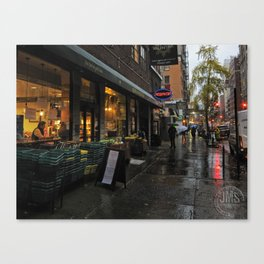 University Place in Rain Canvas Print