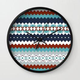 Navajo Pattern Wall Clock