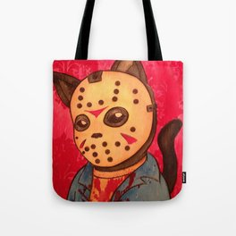Cathouse Of Horrors Series: Jason Tote Bag