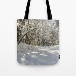 Covered in White Tote Bag