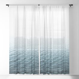 Water Photography Sheer Curtain